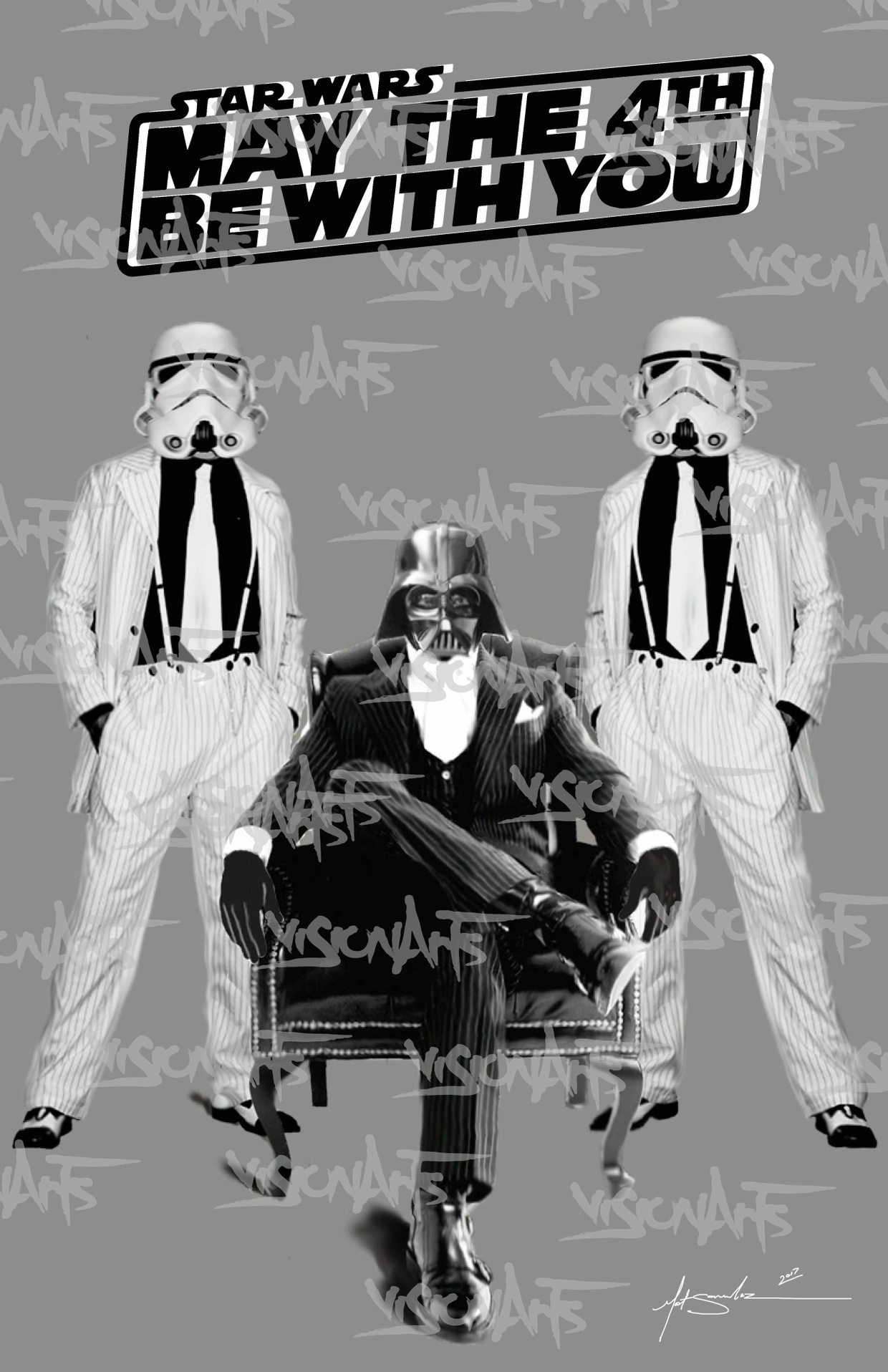 May the Force be with you Art Poster