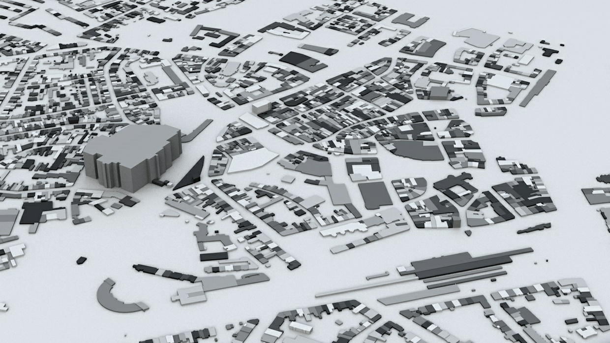 Bonn Streets and Buildings Architectural 3D Model