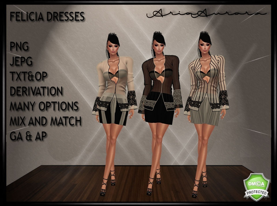 FELICIA DRESSES MANY OPTIONS MIX AS YOU WANT,RESELL RIGHT!!