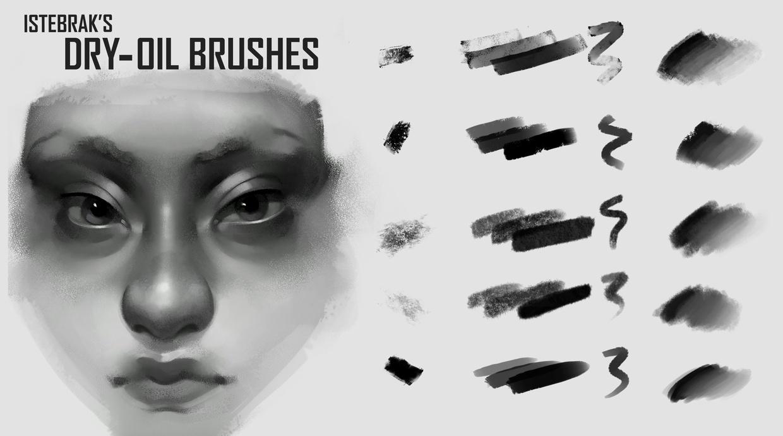 Istebrak's Dry-Oil Brushes for Photoshop