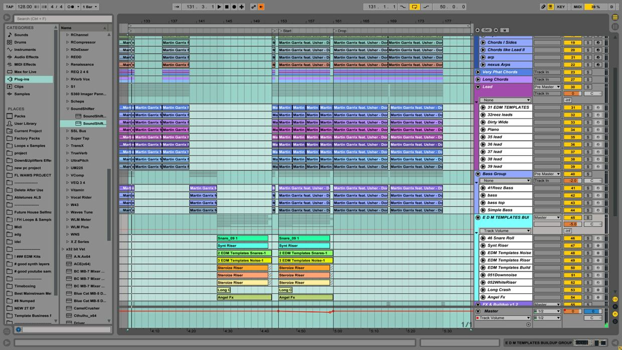 MARTIN GARRIX FEAT USHER - DON'T LOOK DOWN ABLETON LIVE REMAKE TEMPLATE PROJECT