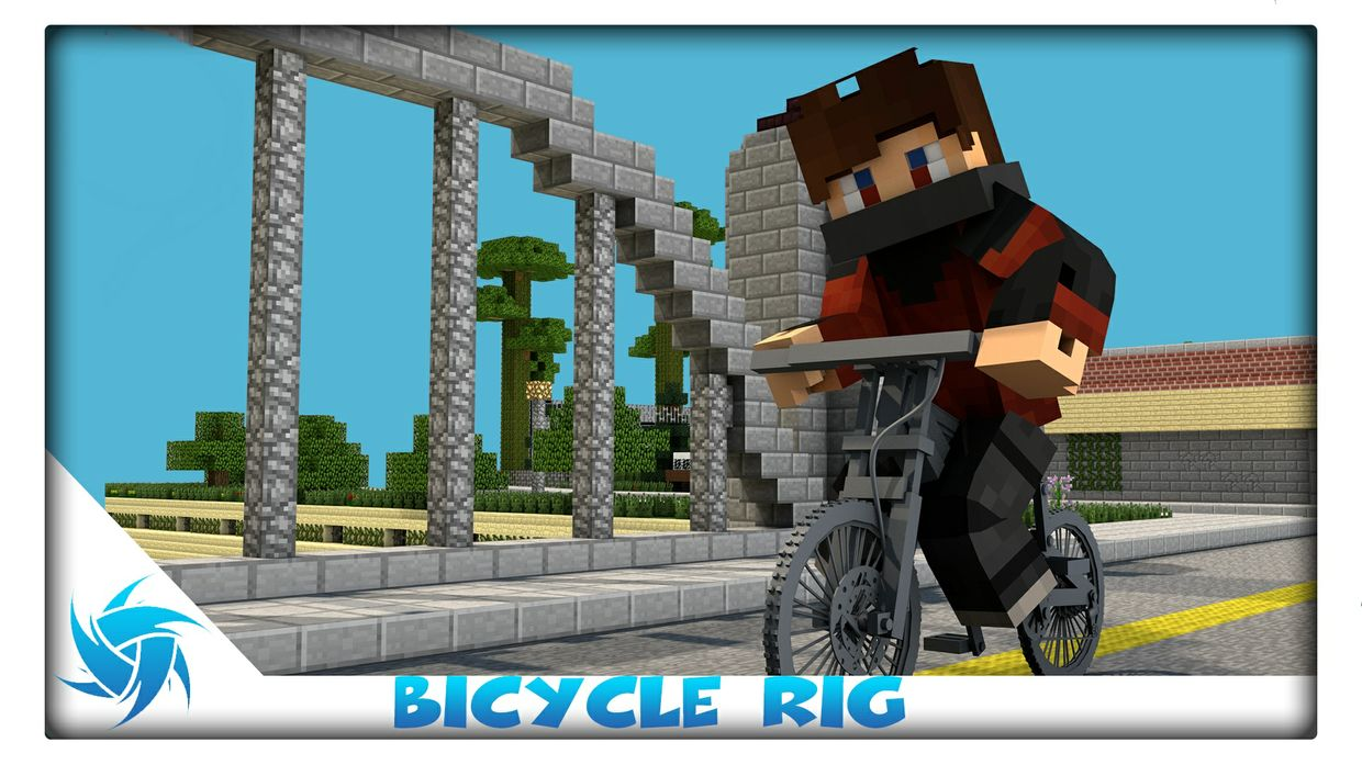 Minecraft Bicycle Rig | Cinema 4D