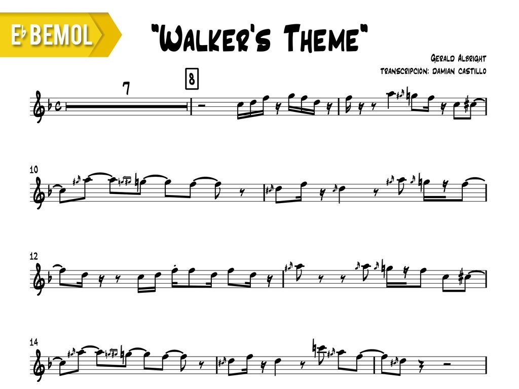 "Gerald Albright - ""Walker's Theme (live at java jazz fest)"" - Eb"
