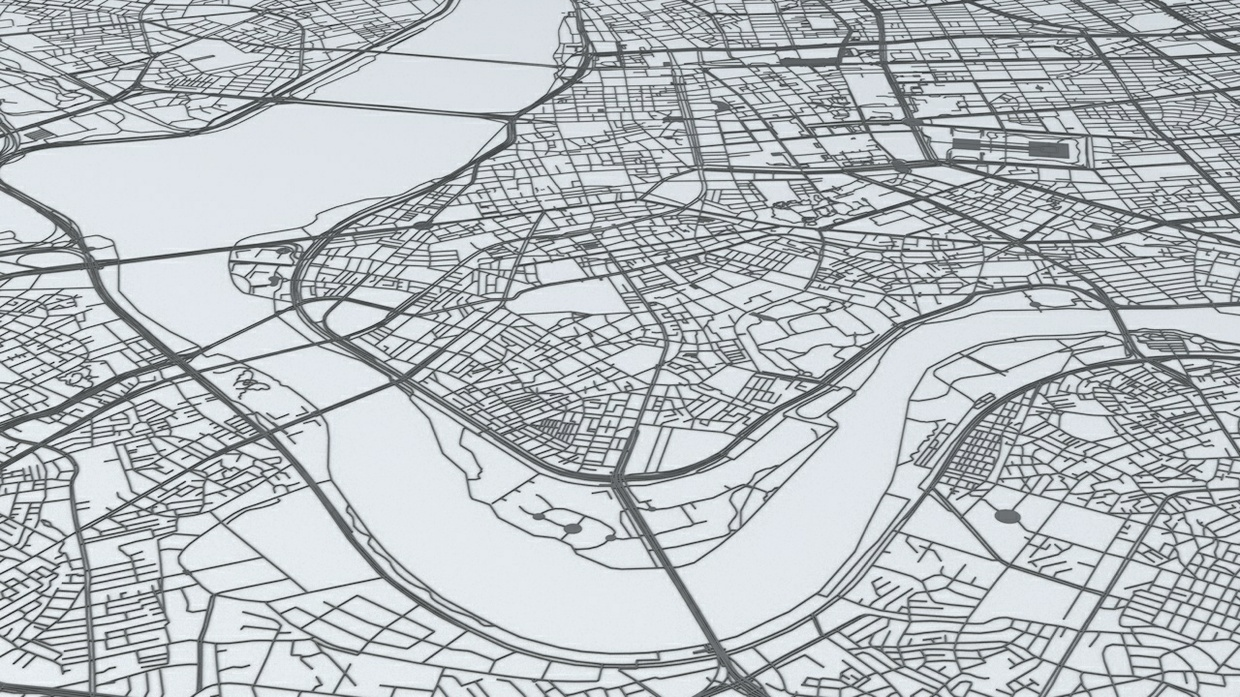 Taipei Road Network Architectural 3D Model