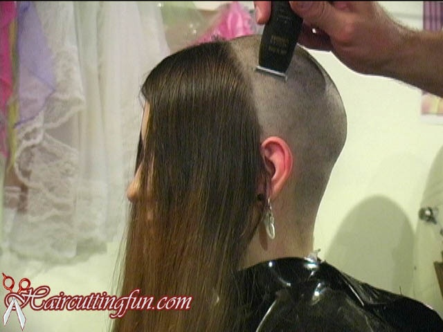Sarah's Waist Long Hair to Head Shave VOD - video on demand download