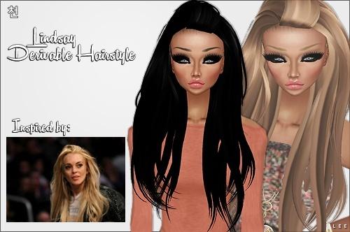 IMVU Mesh - Hair - Lindsay