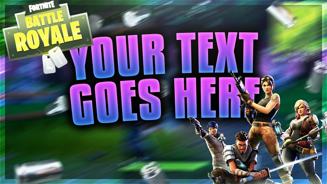 Fortnite Battle Royale Thumbnail Template