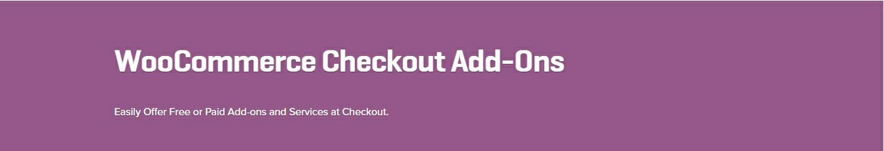 WooCommerce Checkout Add-Ons 1.8.2 Extension