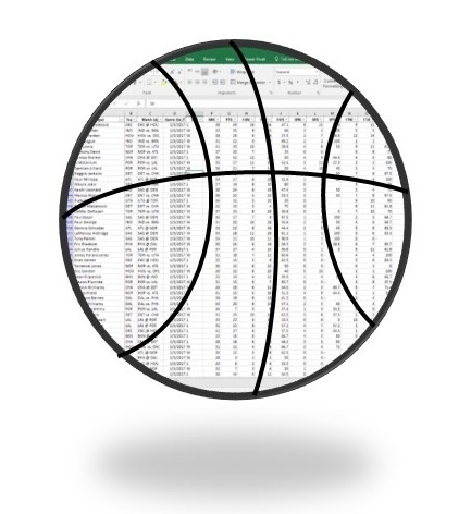 Excel NBA Individual Players Stats - Thru March 3, 2018