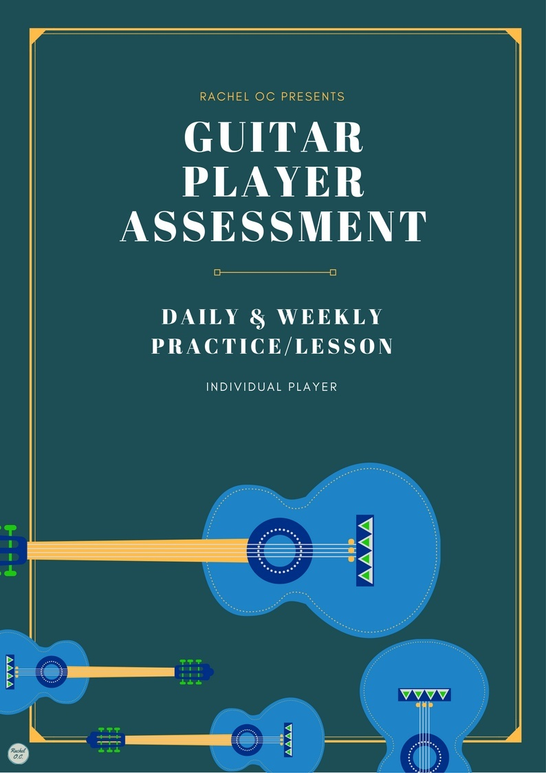Check Yourself Before You Wreck Yourself- Guitar Player Assessment Bundle