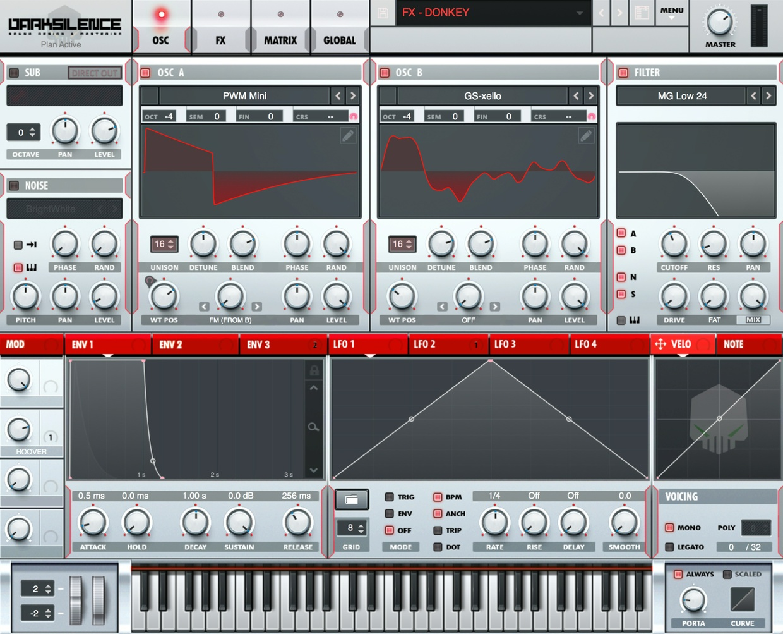 Dark Silence Sound Design ALPHA V1 RED XFER SERUM SKIN