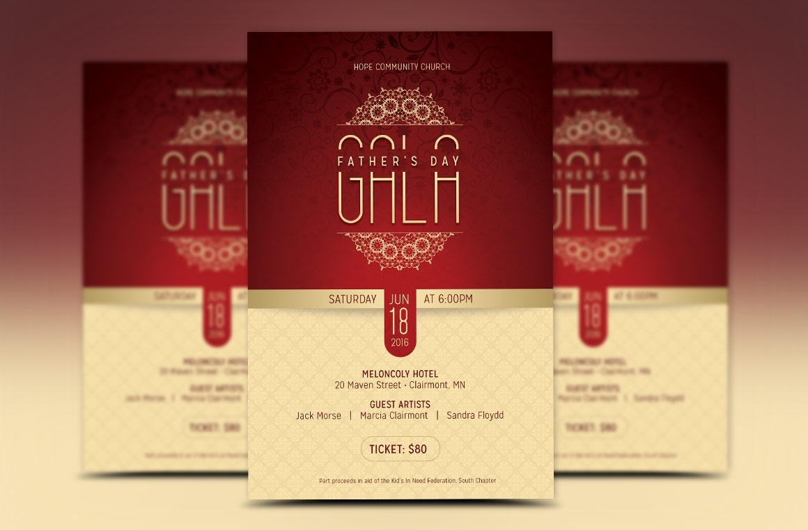 Fathers Day Banquet Flyer Template