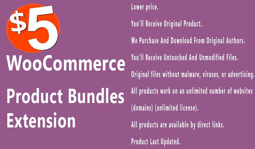 WooCommerce Product Bundles 5.7.5 Extension