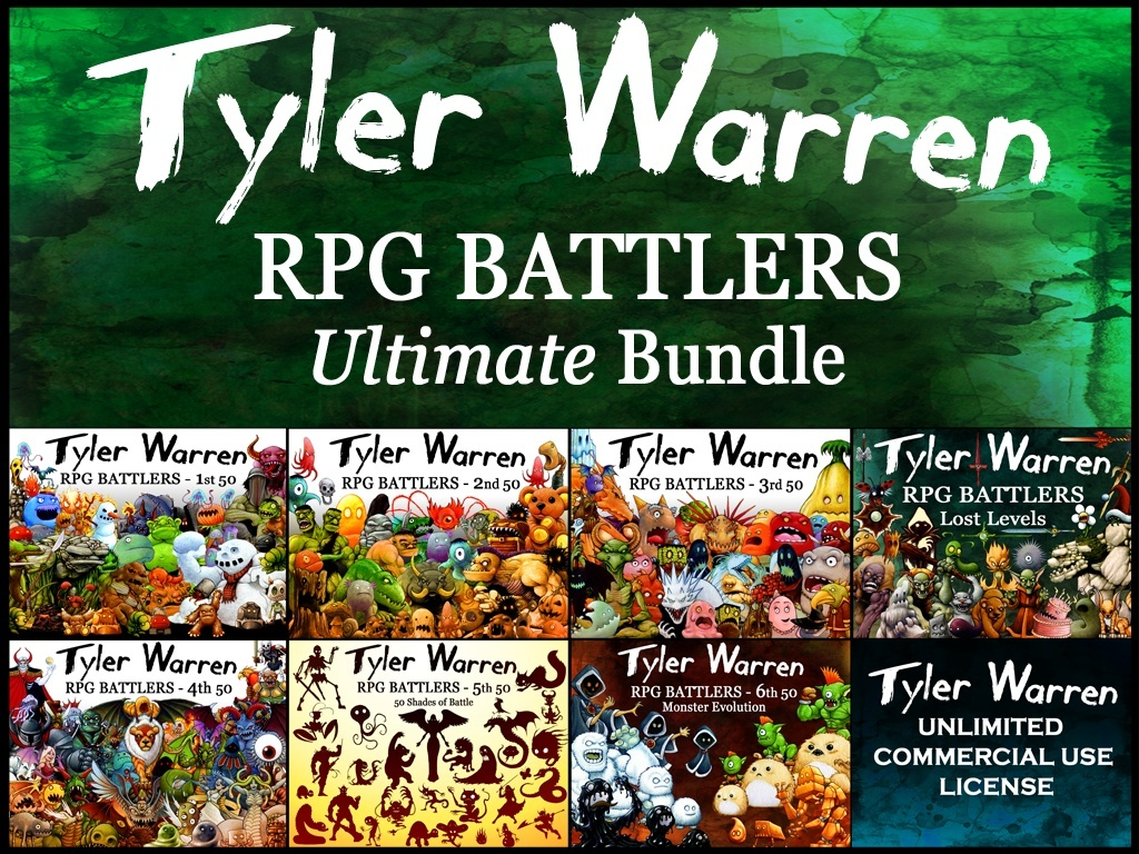 Tyler Warren RPG Battlers - Ultimate Bundle