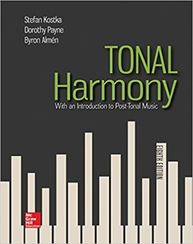 Tonal Harmony, 8th edition by Stefan Kostka ( PDF , instant download )