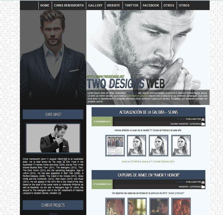 WP Premade 1 - Chris Hemsworth