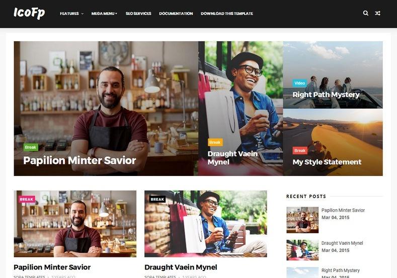 Icofp Blogger Template Premium Version