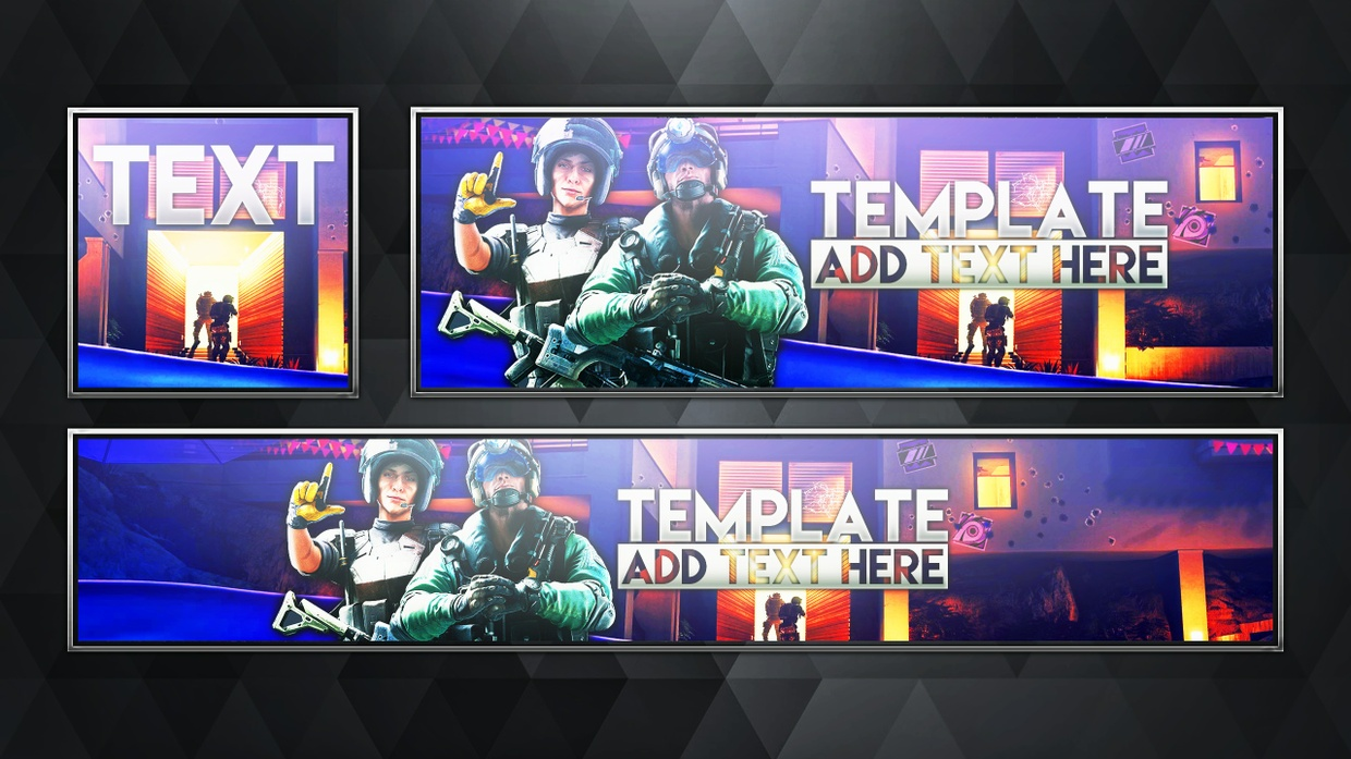 Free Social Media Revamp Pack - Rainbow Six Siege - Photoshop Template