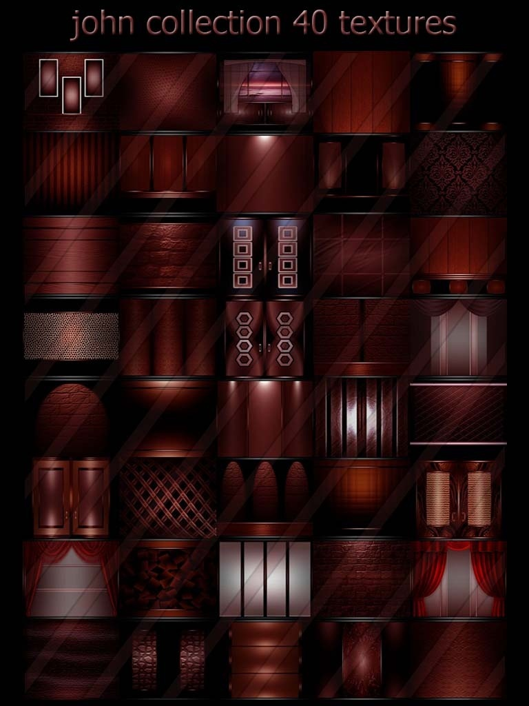 john collection 40 textures room for imvu