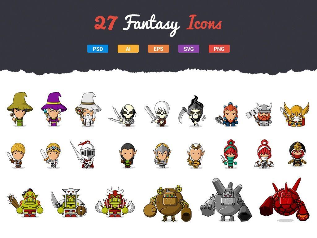 27 Fantasy Characters