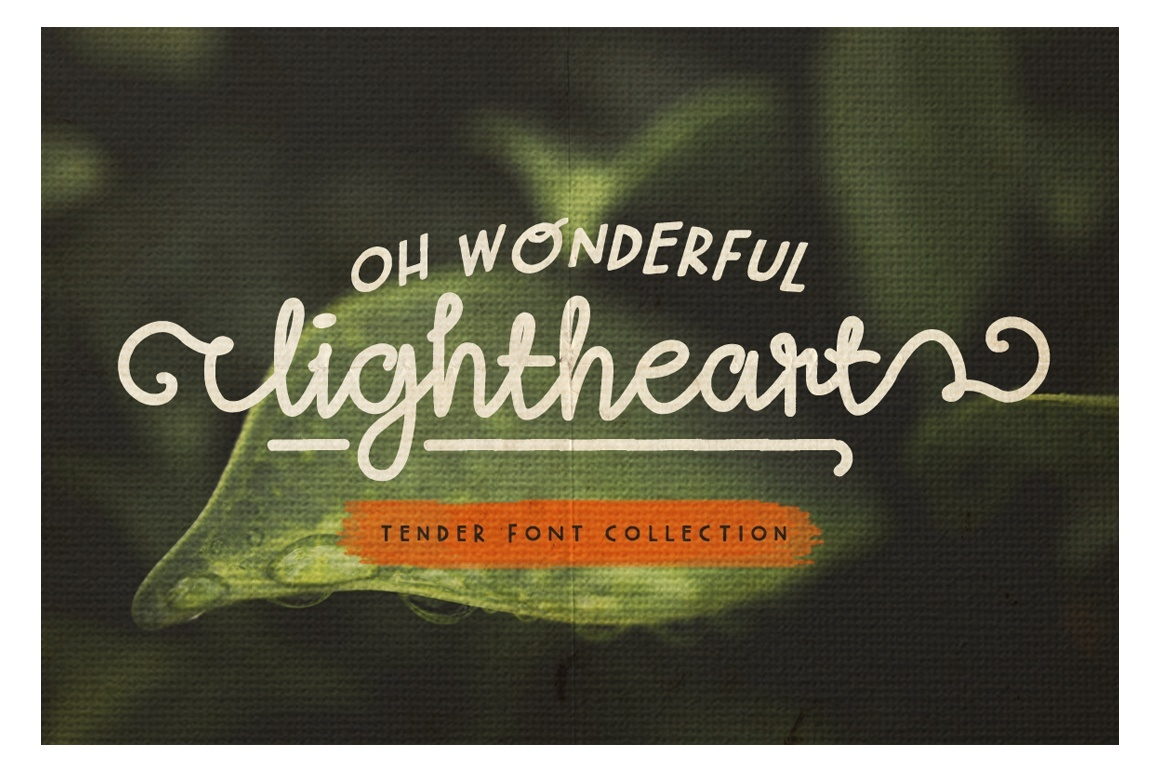 Oh Wonderful, Lightheart - Font Collection
