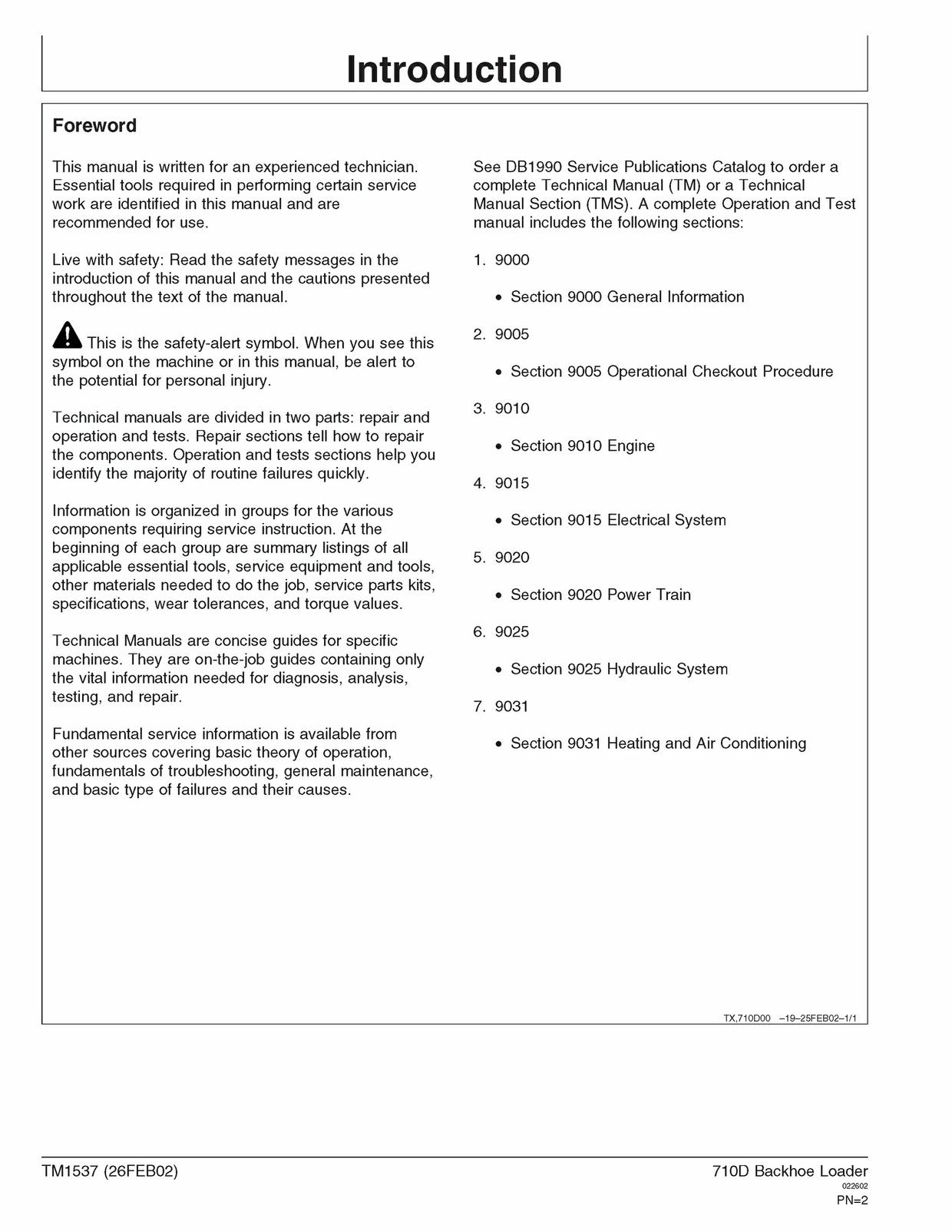 Download John Deere 710D Backhoe Loader Operation and Test Manual TM1537