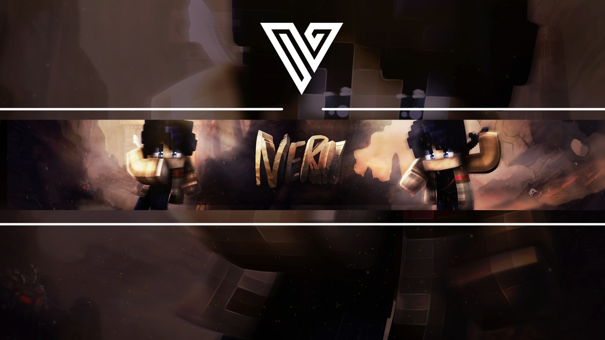 MINECRAFT BANNER FOR YOUTUBE