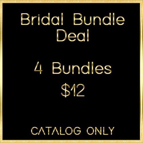 Bridal Wedding Bundle Deal CATALOG ONLY