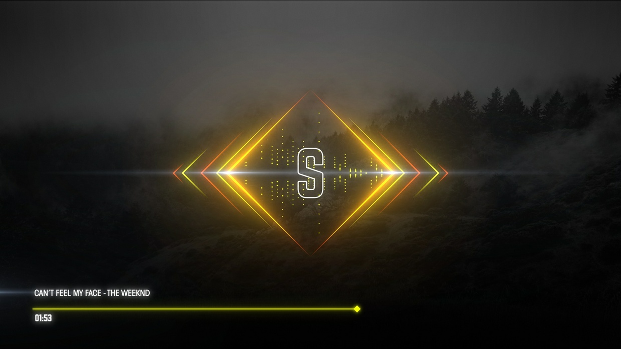 Square Music Visualizer After Effects Template