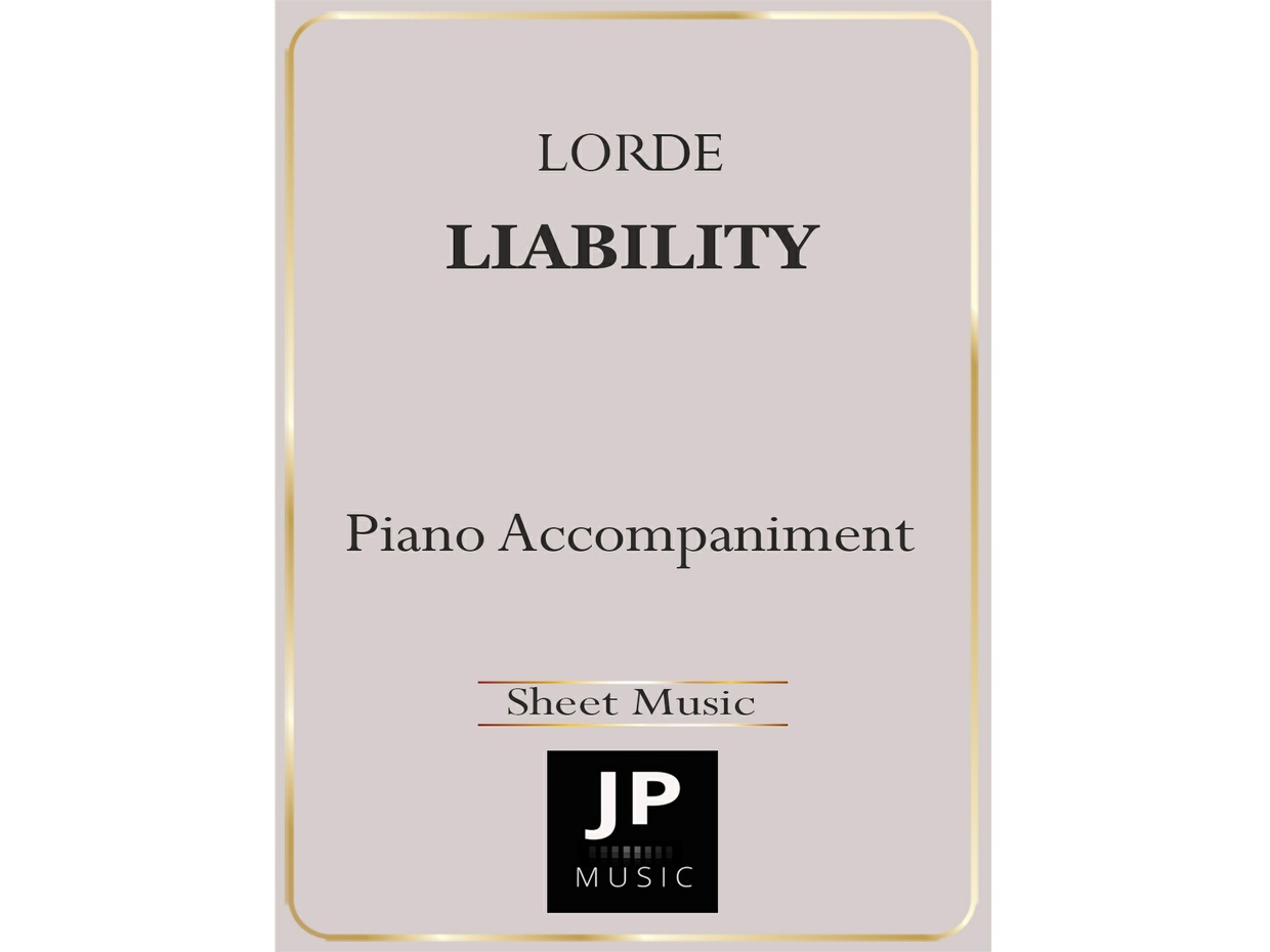 Liability - Piano Accompaniment