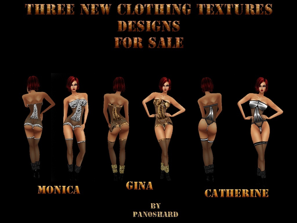 THREE  CLOTHING FEMALE  AP  textures   projects  only  $8
