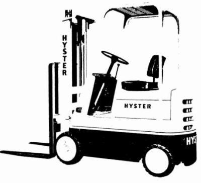 Hyster Forklift Truck C002 Series: S30B, S30C, S40B, S40C, S50B, S50C Workshop Service Manual