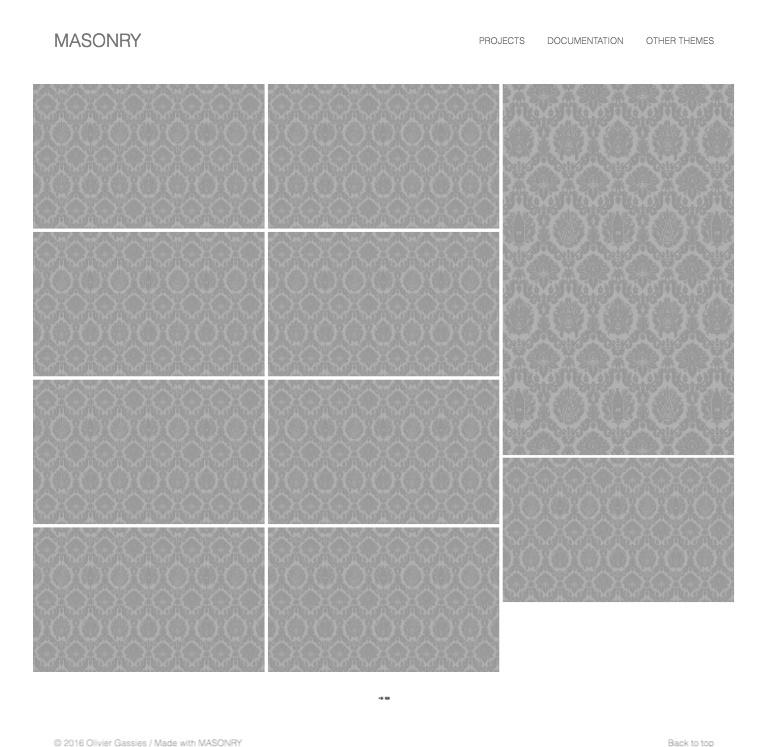 MASONRY theme for Kirby cms