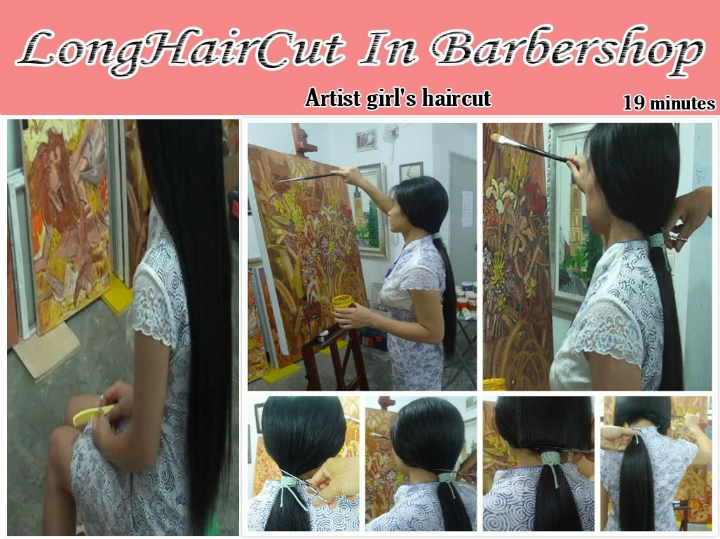 Artist girl's haircut