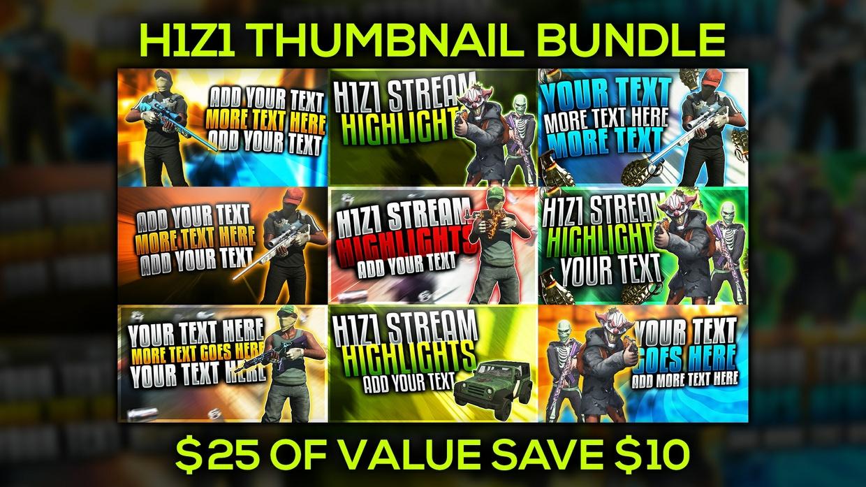 H1Z1 YouTube Thumbnail Template Bundle Pack