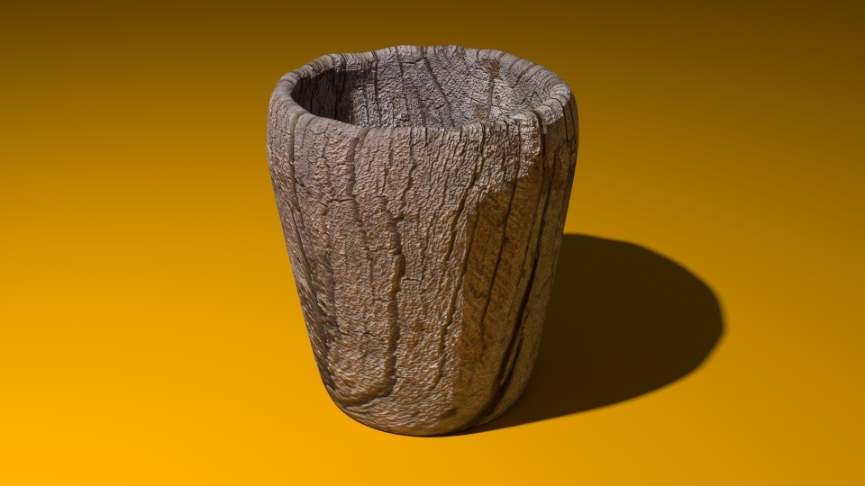 Wooden Jar