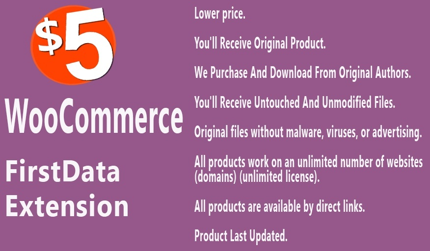 WooCommerce FirstData Extension