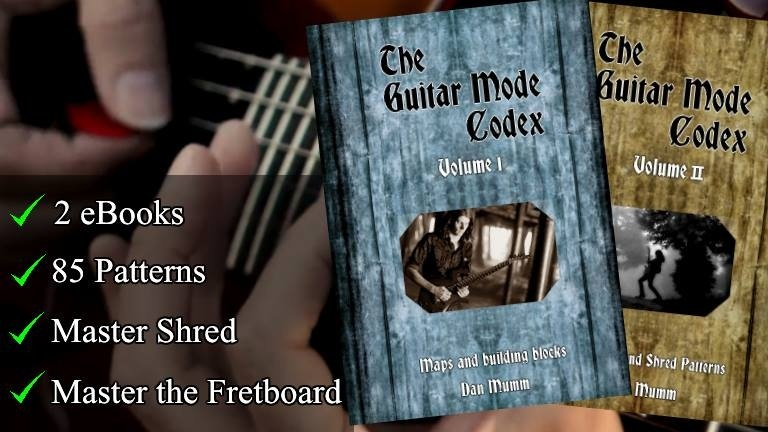 The Guitar Mode Codex - Complete - Both Volumes, 85 Patterns - PDF eBook - MASTER Shred Guitar