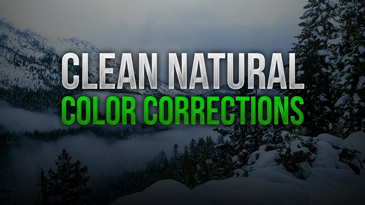 Clean Natural Photoshop Color Correction Pack
