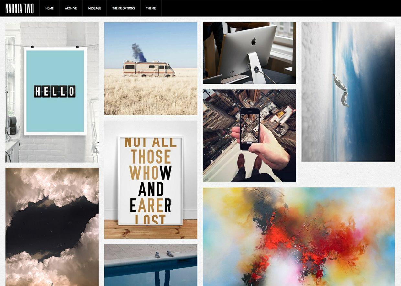 Narnia Two - Flexible grid based Tumblr theme