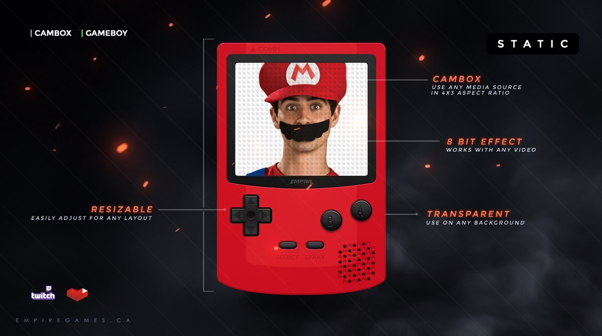 CamBox / FaceCam | Gameboy (Red)