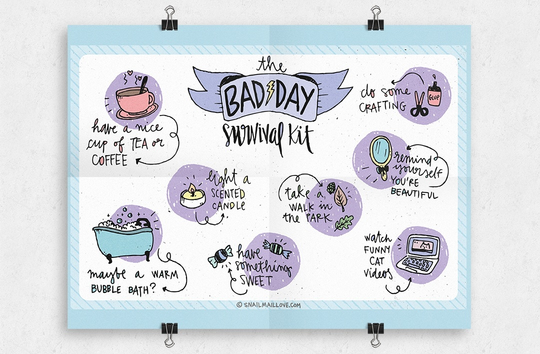 """the bad day survival kit' printable"