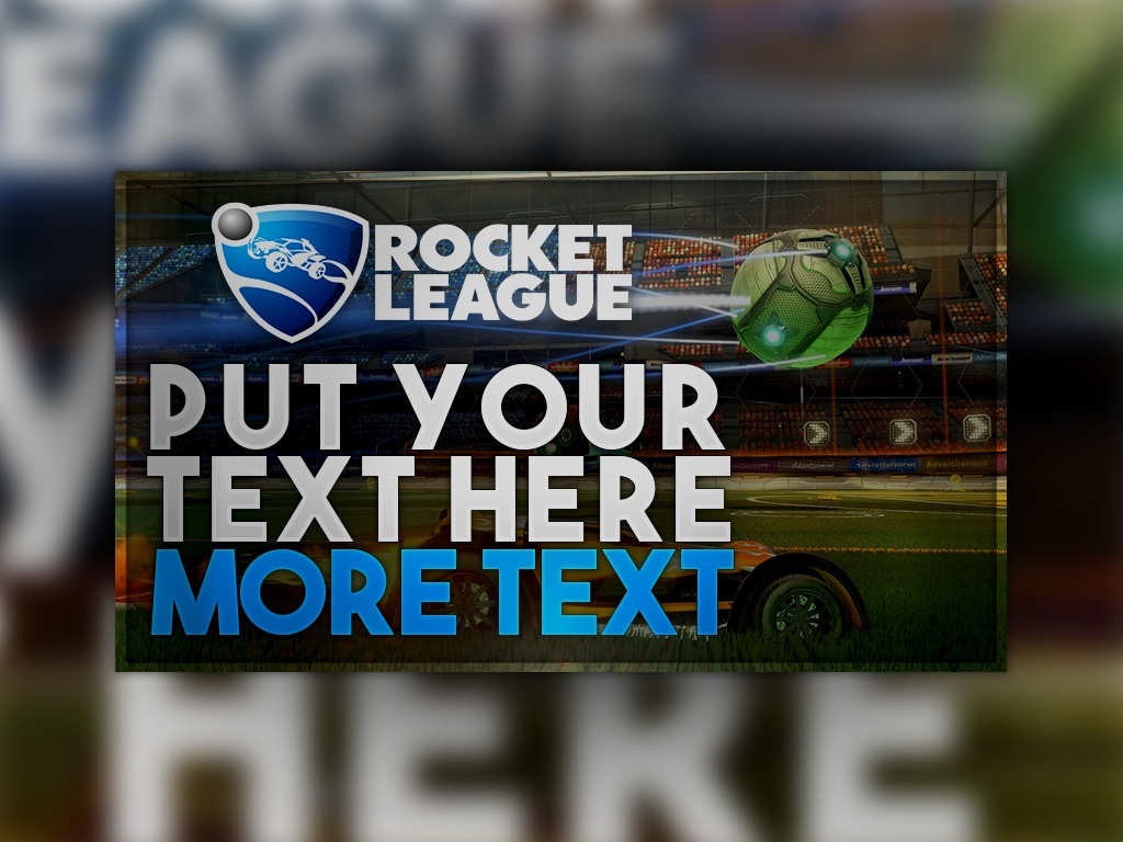 FREE Rocket League Thumbnail Template Photoshop