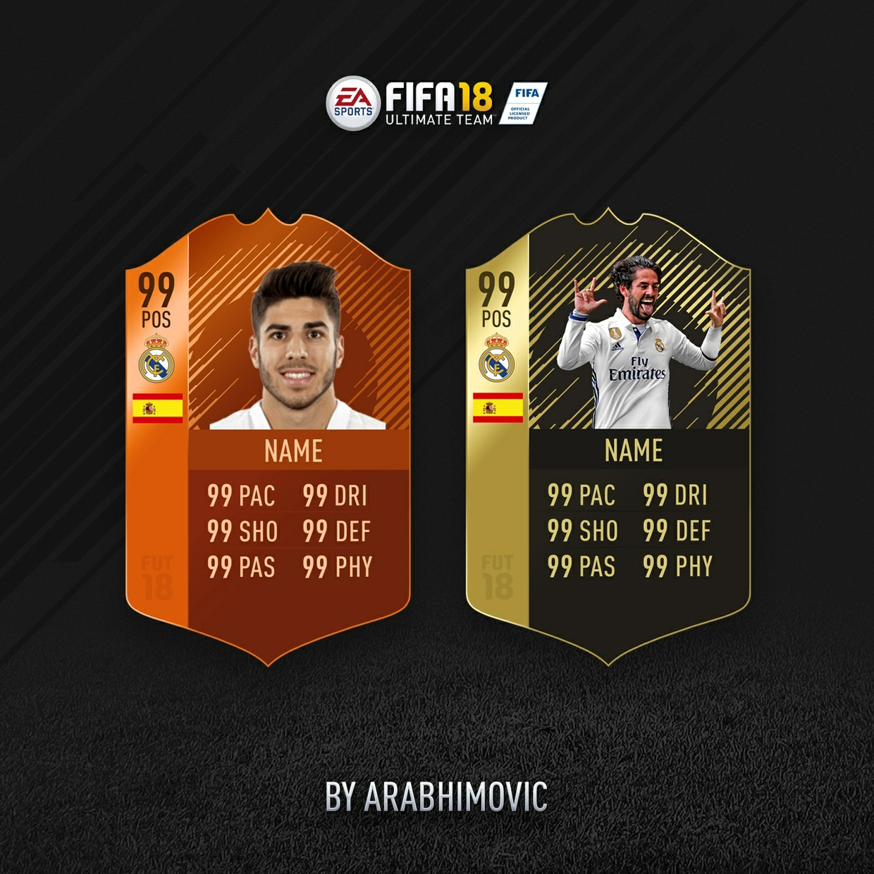 FIFA 18 HD INFORM AND MOTM CARDS