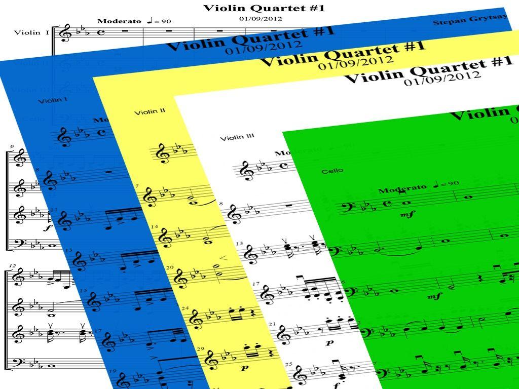 Violin Quartet No.1  by Stepan Grytsay