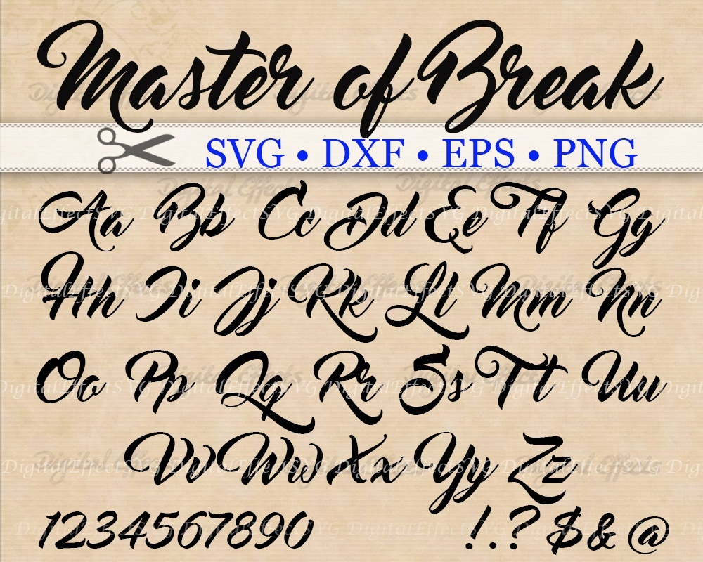 MASTER OF BREAK FONT SVG FILES