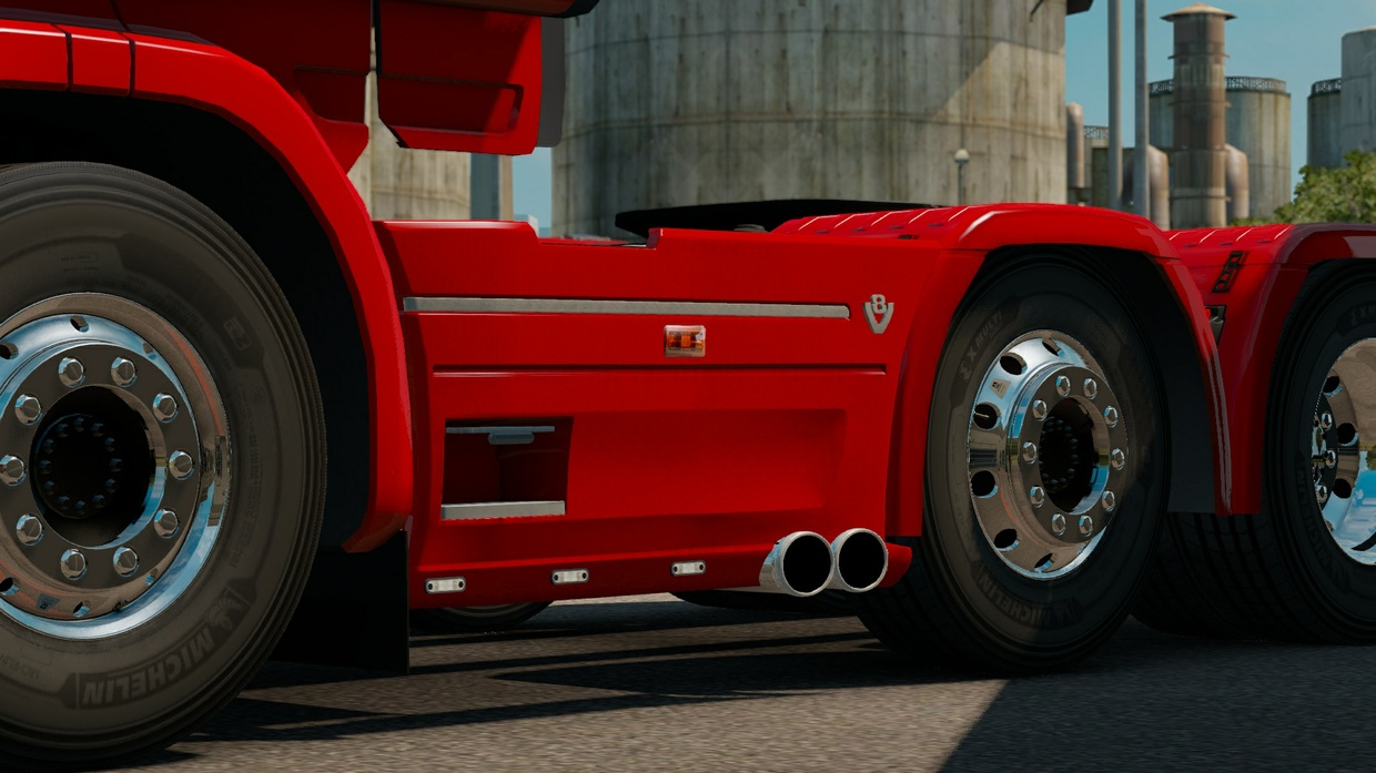 Scania RJL Duel sidepipes and slots