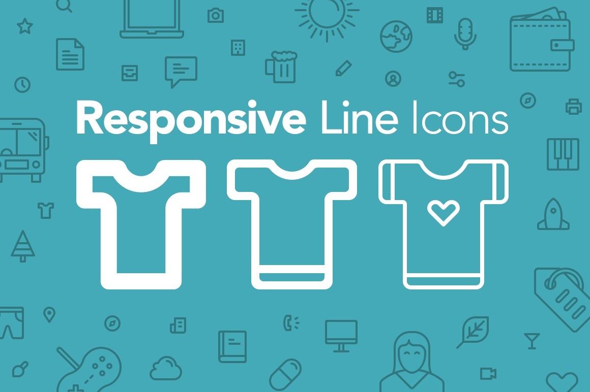 Responsive Line Icons