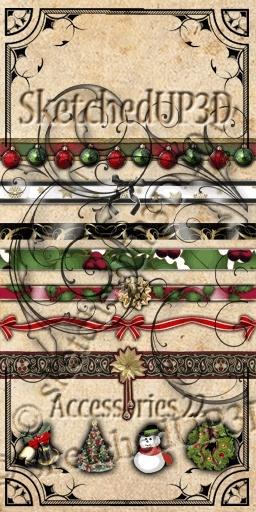 Accessories 22 - Christmas Belt Textures