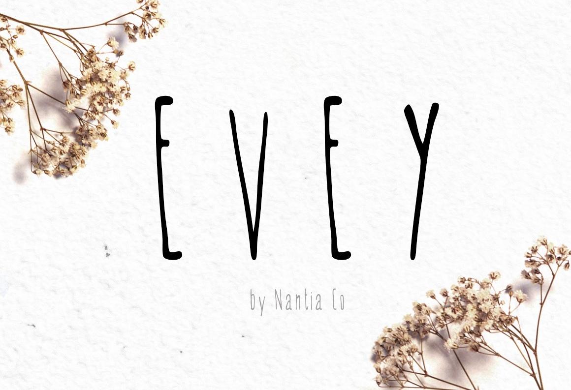 *EVEY* | handwritten Font